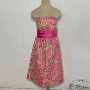 NWT Vintage Lilly Pulitzer Pink Floral TEA Dress